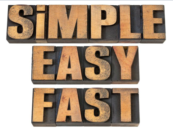 Simple, Easy, Fast (Full Message)