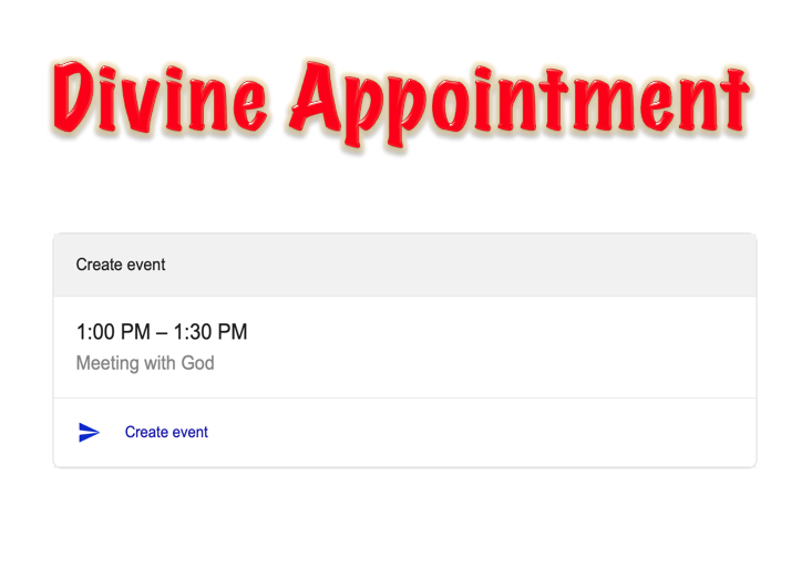 Divine Appointment (Full Message)