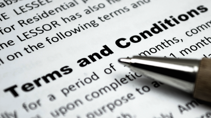 Terms and Conditions (Full Message)