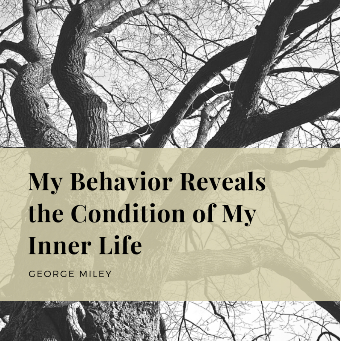 My Behavior Reveals the Condition of My Inner Life