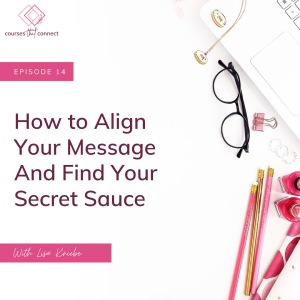 Episode 14: How to Align Your Message And Find Your Secret Sauce