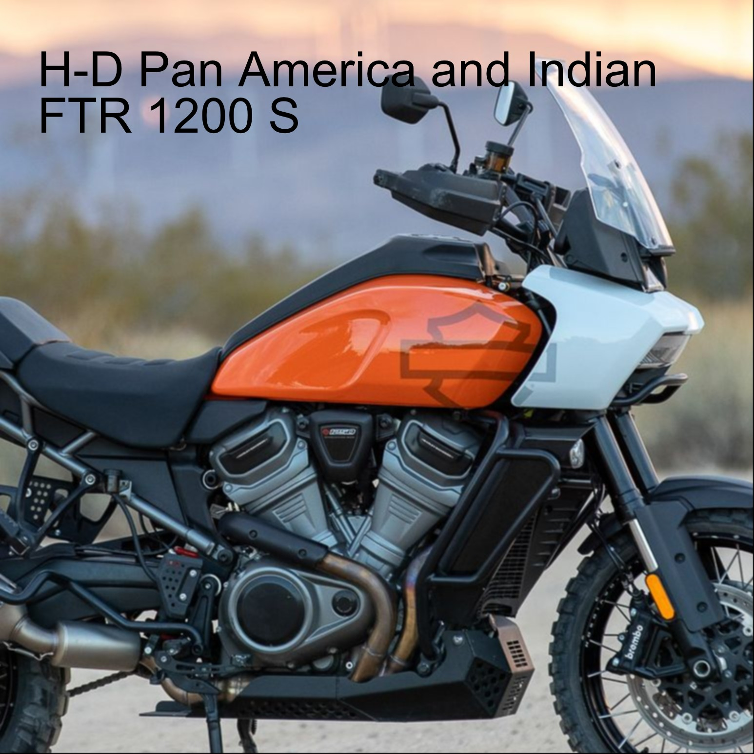 H-D Pan America and Indian FTR 1200 S