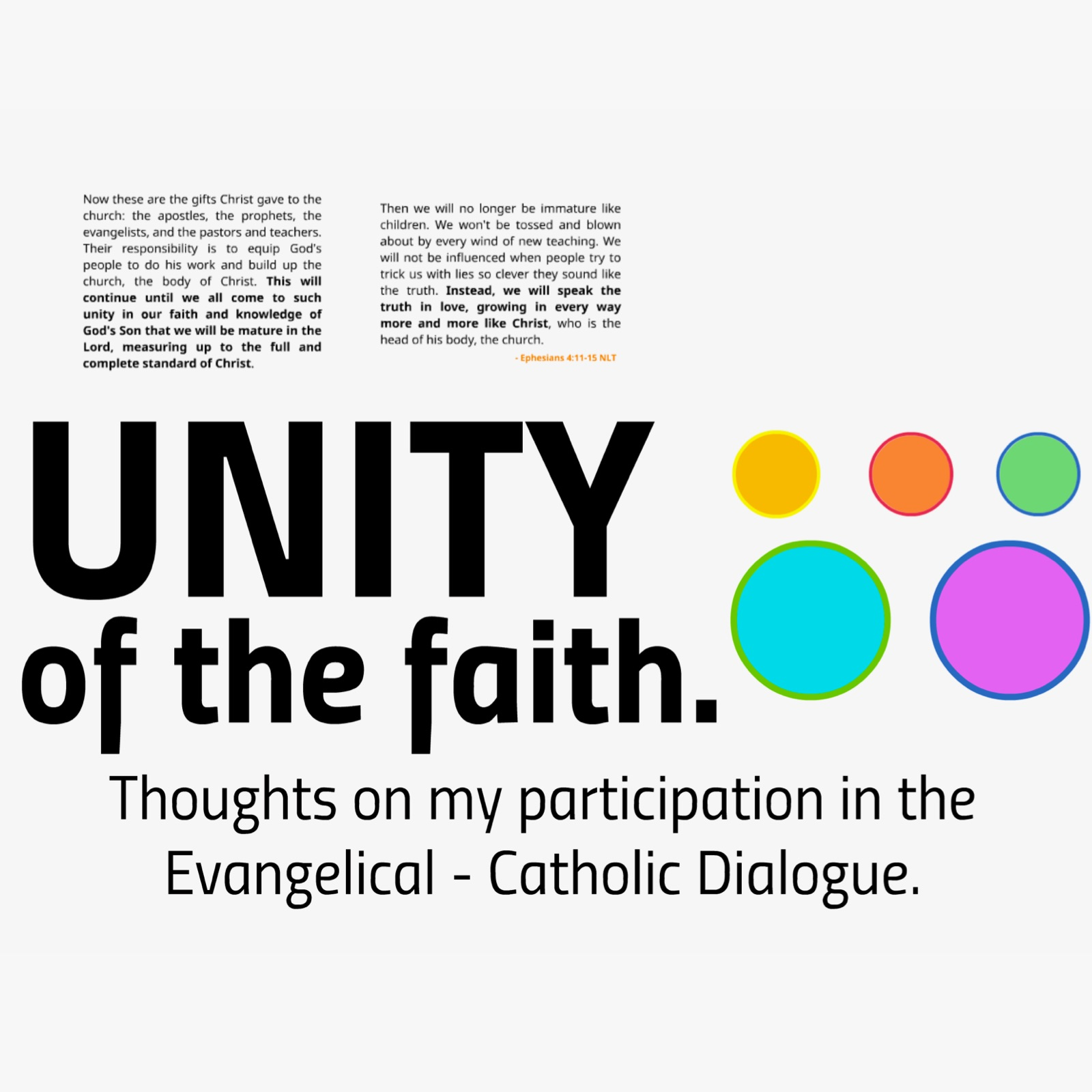 Unity of the Faith: Thoughts on My Participation in the Evangelical - Catholic Dialogue