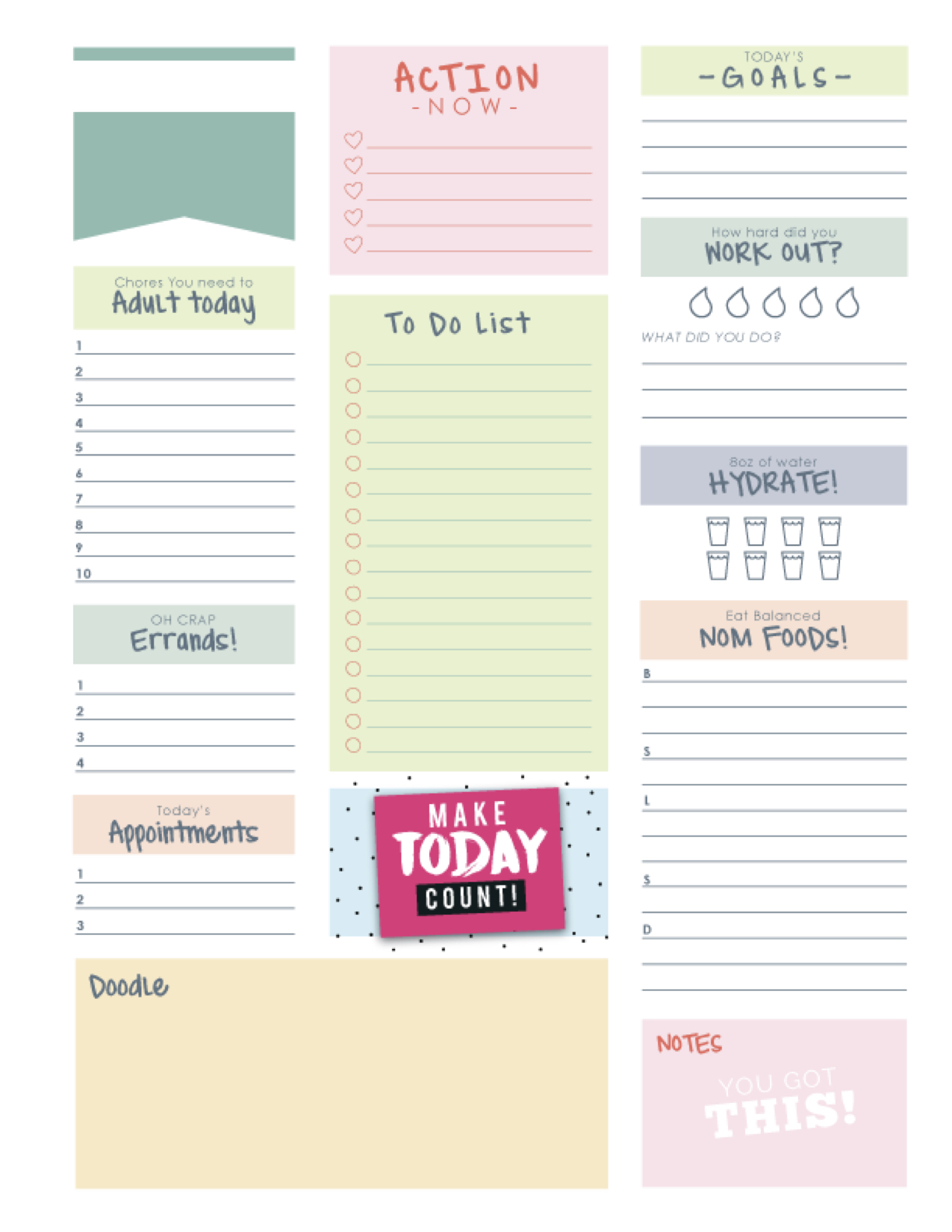 Routines, to-dos and planners...oh my!