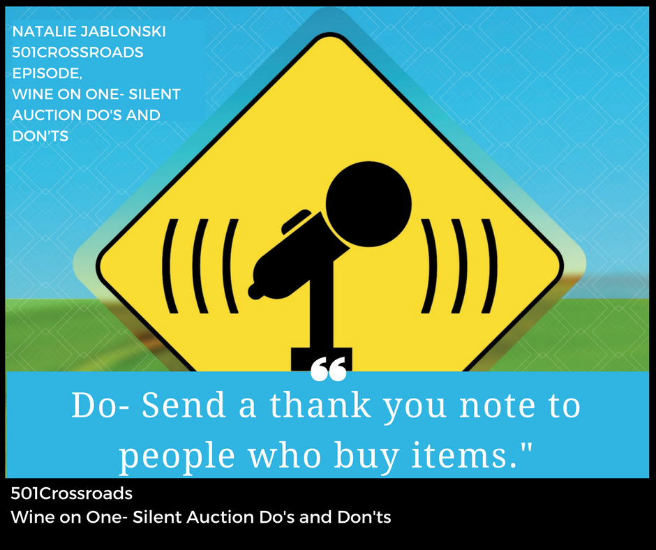 Wine on One- Silent Auction Do's and Don'ts