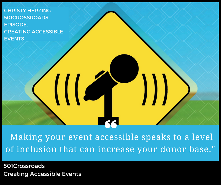 Creating Accessible Events with Christy Herzing and Sandy Jones of Paraquad