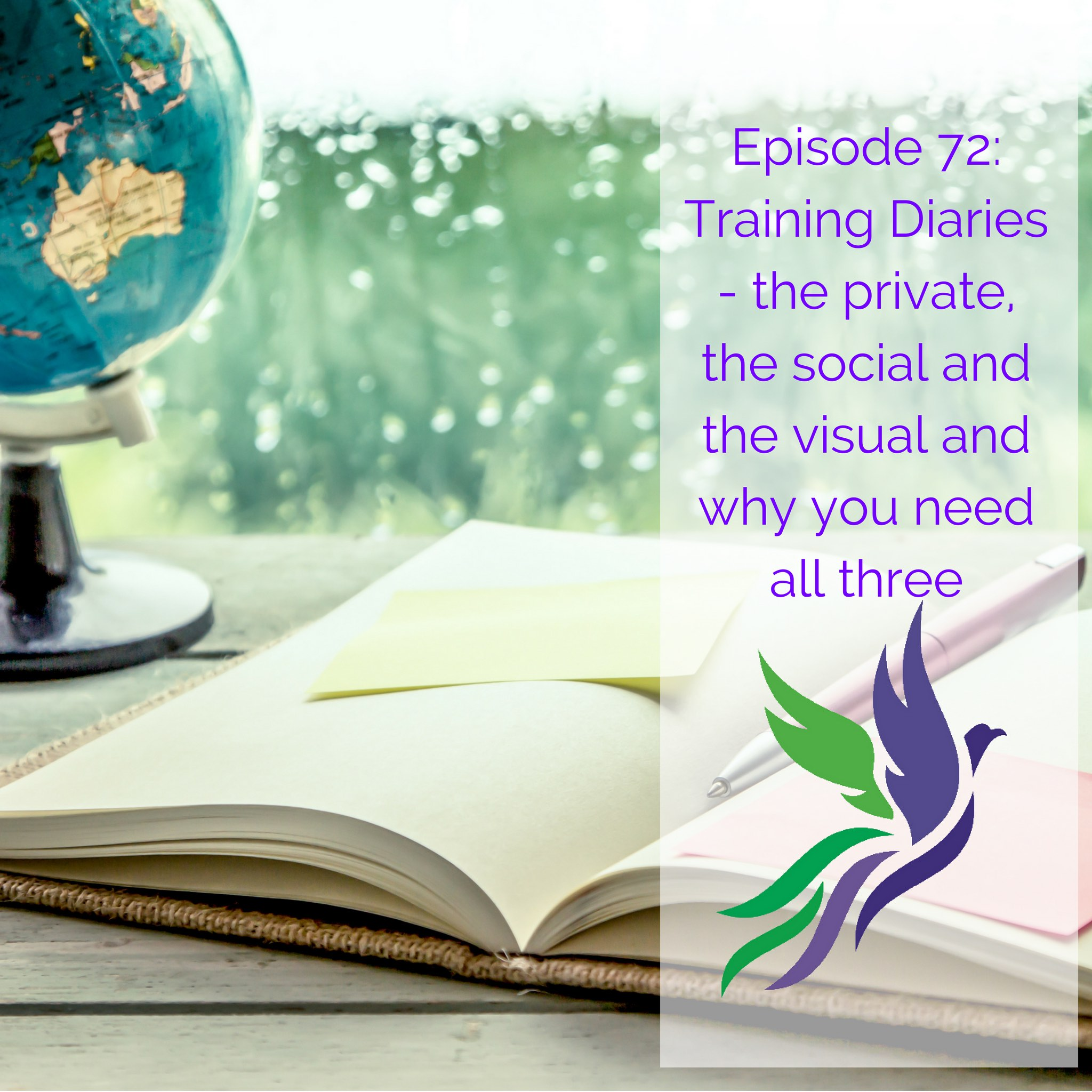 #72 Training Diaries - the private, the social and the visual and why you need all three