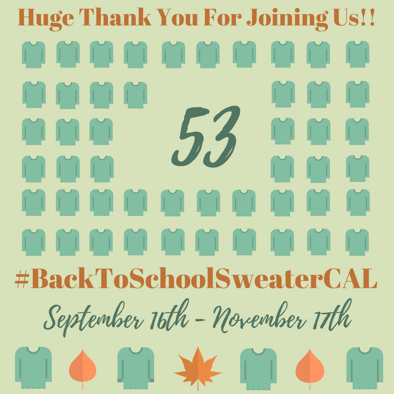 027 Back To School Sweater CAL Celebration of Making