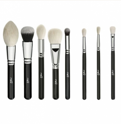 MSQ 8Piece Natural Hair Professional Cosmetic Brush set