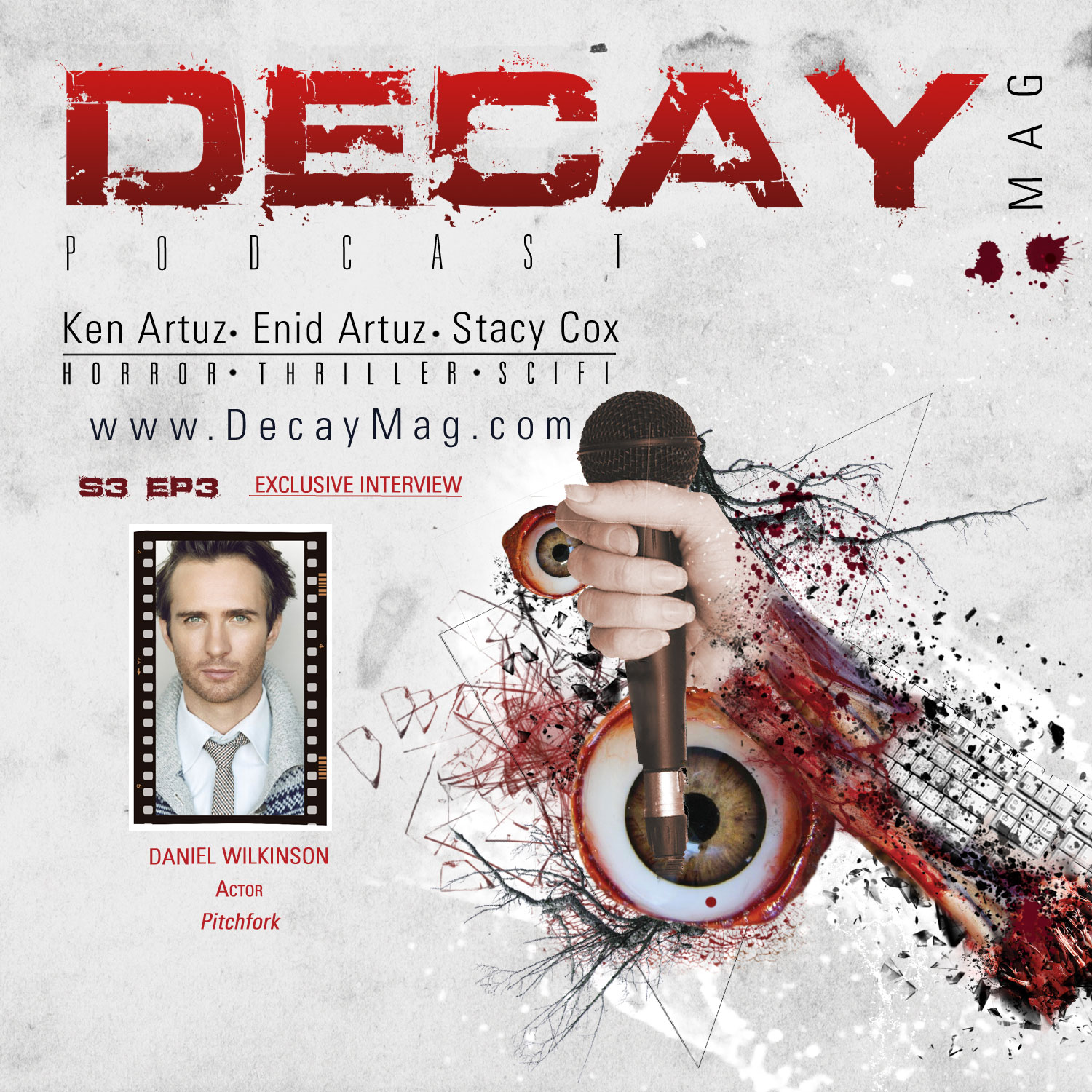 DecayMag Horror News Podcast: Exclusive Interview Daniel Wilkinson of Pitchfork