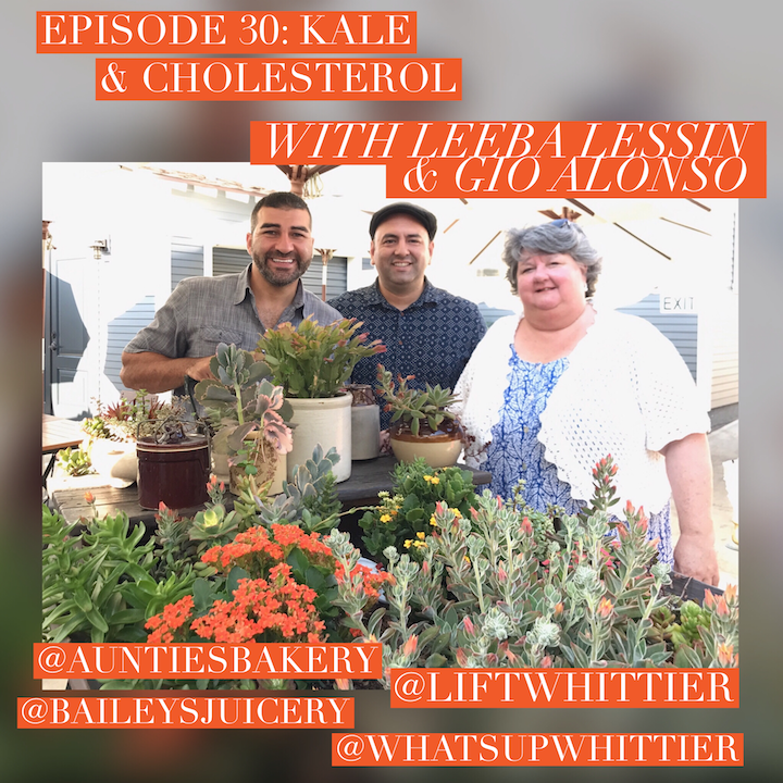 EPISODE 30: KALE & CHOLESTEROL with Leeba Lessin & Gio Alonso