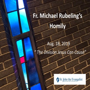 The Division Jesus Can Cause (Fr. Michael Rubeling, 08/18/2019)