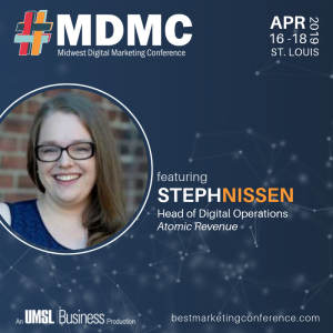 Live at MDMC '19 with Steph Nissen