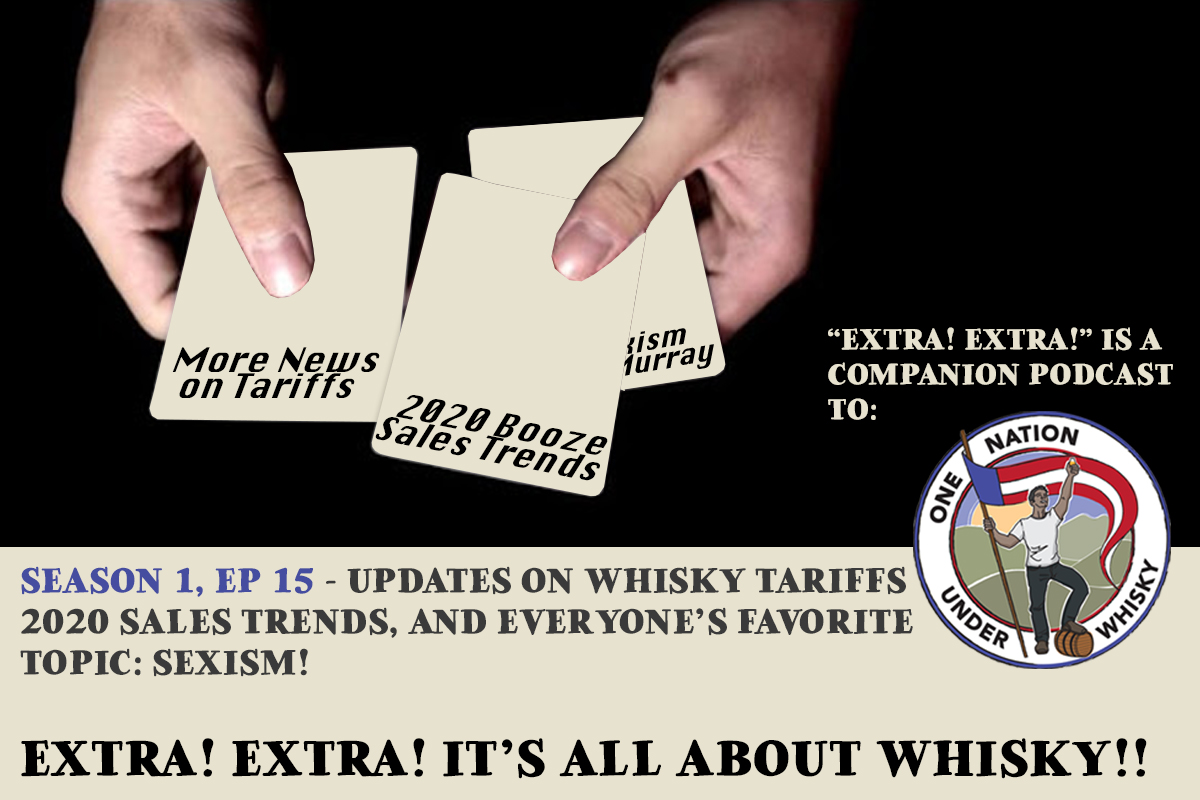 Extra! Extra! It's All About Whisky!! S1E15 -- Tariffs, and Bottle Sales, and Sexism, oh my!