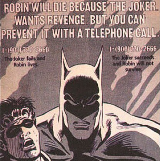 Weird Comics History, The Fourth One: Jason Todd's 1-900 Number