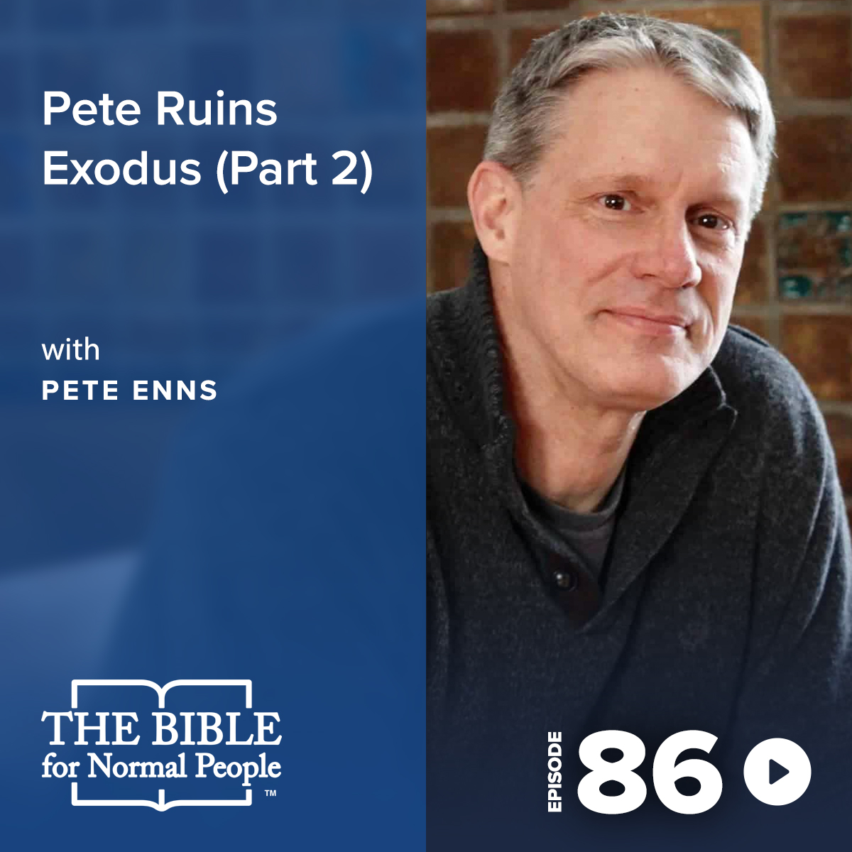 Episode 86: Pete Enns - Pete Ruins Exodus (Part 2)