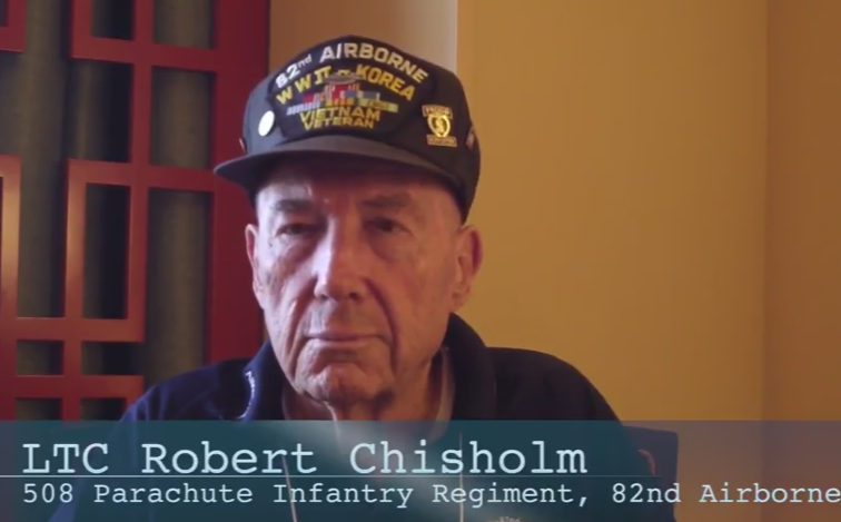 WWII Veteran Paratrooper in the 82nd Airborne LTC Robert Chisholm