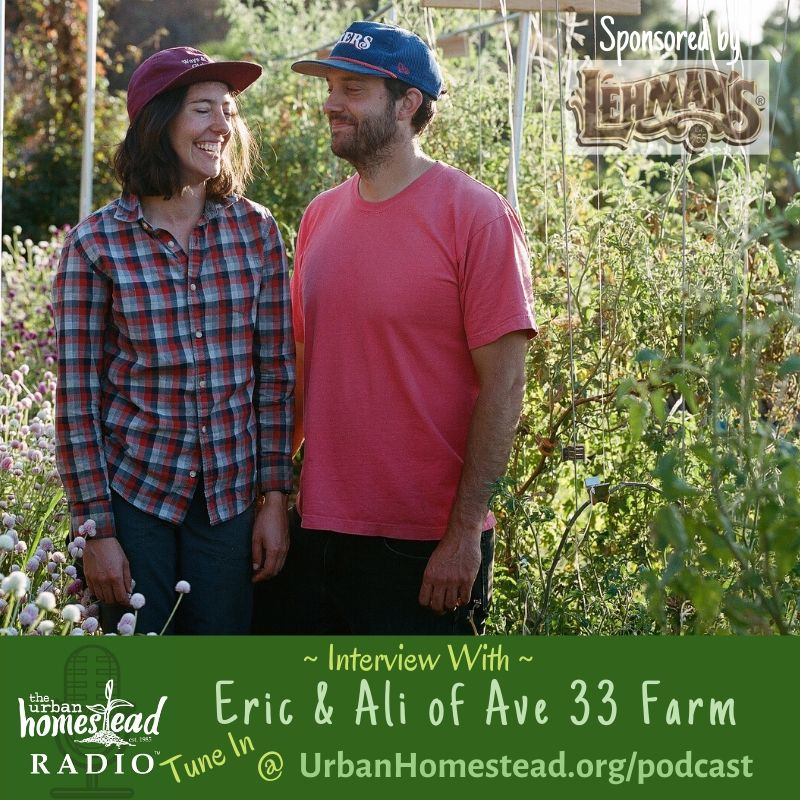 Urban Homestead Radio Episode 86: Interview with Eric & Ali of AVE 33 FARM