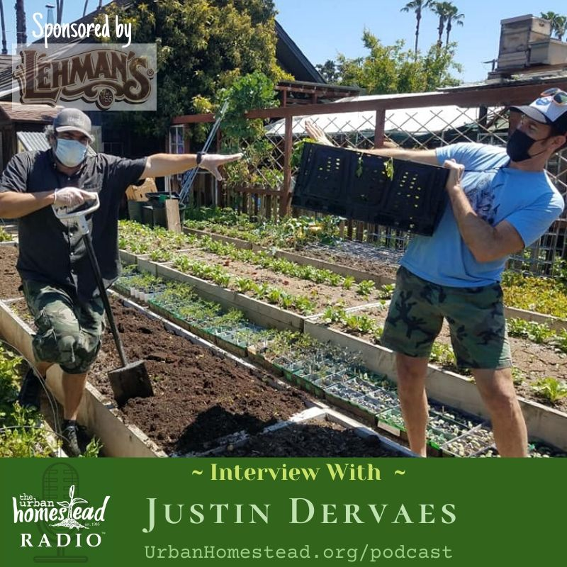 Urban Homestead Radio Episode 90: Farming During the Time of Corona with Justin Dervaes