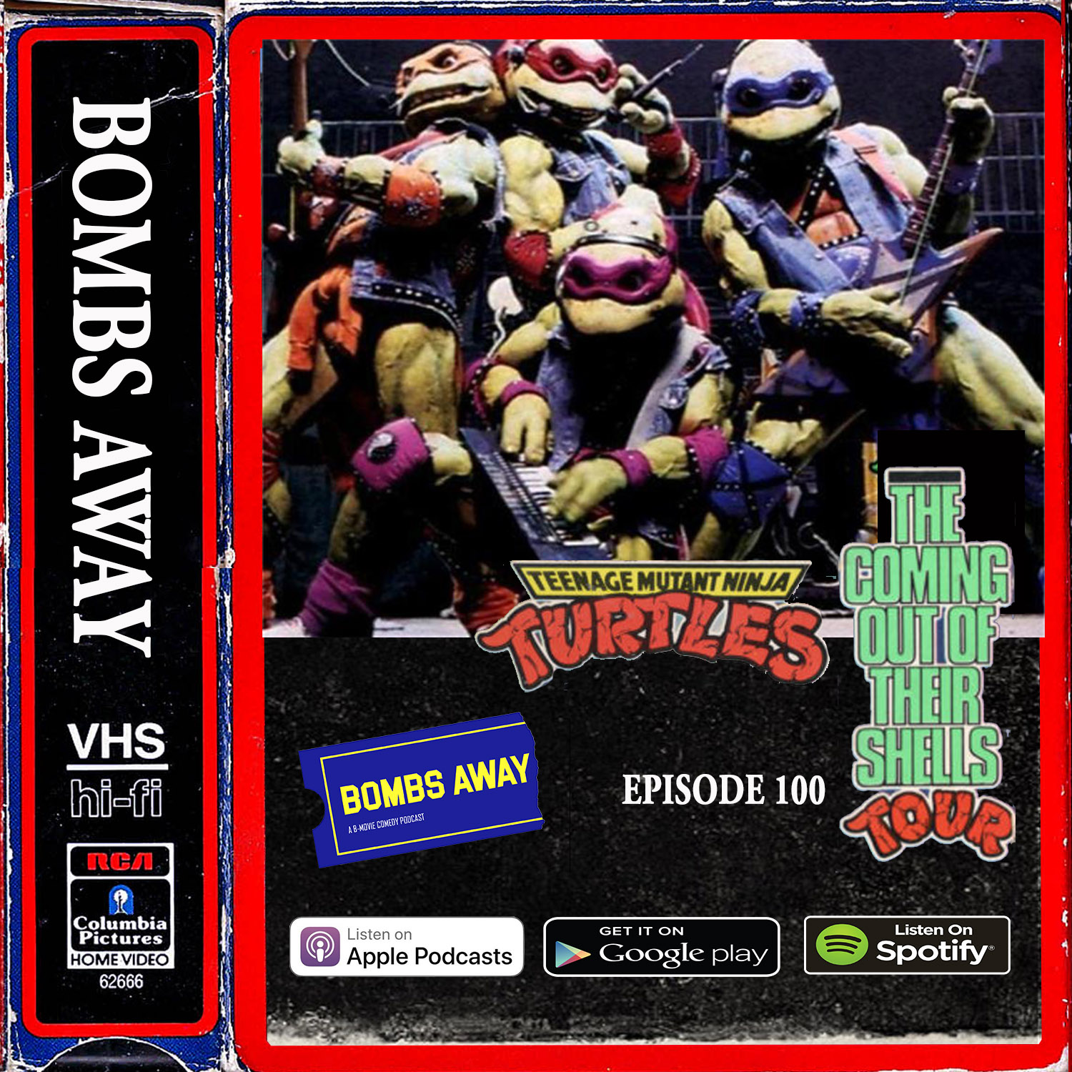 Episode 100 - Teenage Mutant Ninja Turtles: Coming Out of Their Shells Tour (1990)