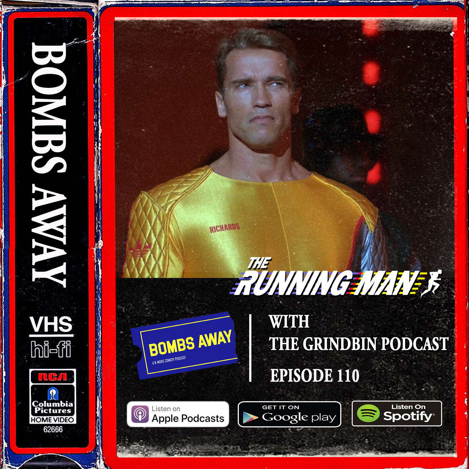 Episode 110 - The Running Man (1987) LIVE [w/ The Grindbin Podcast]