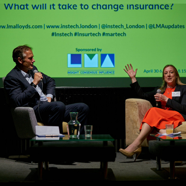 "InsTech London Podcast 27. ""Insurance is a community, not an industry"". Marketing Innovation with Hiscox, Concirrus, Slipcase, The Marketing Eye and Proper LinkedIn."