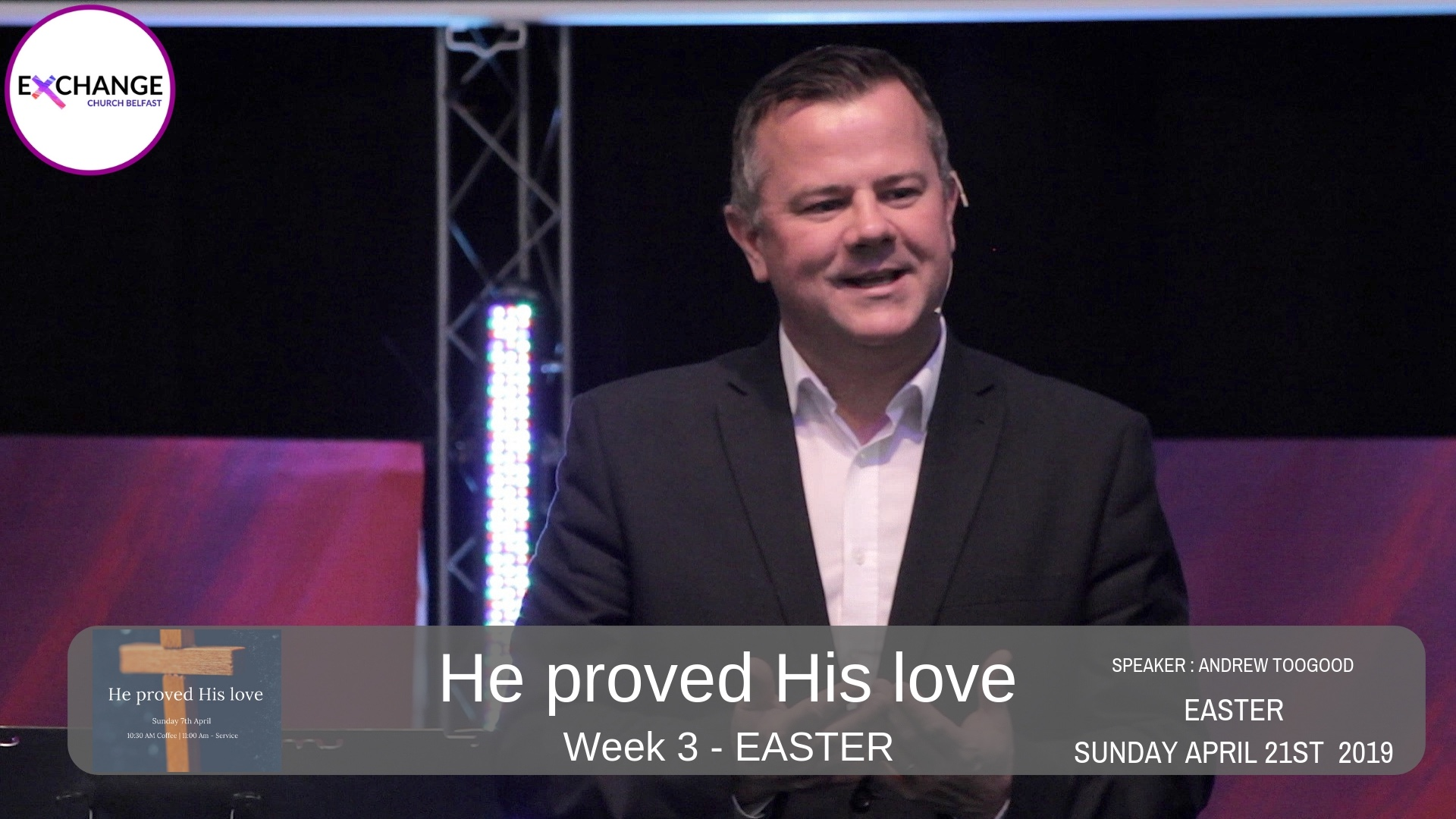 He proved His love - Week 3 - No more shame. You are good enough