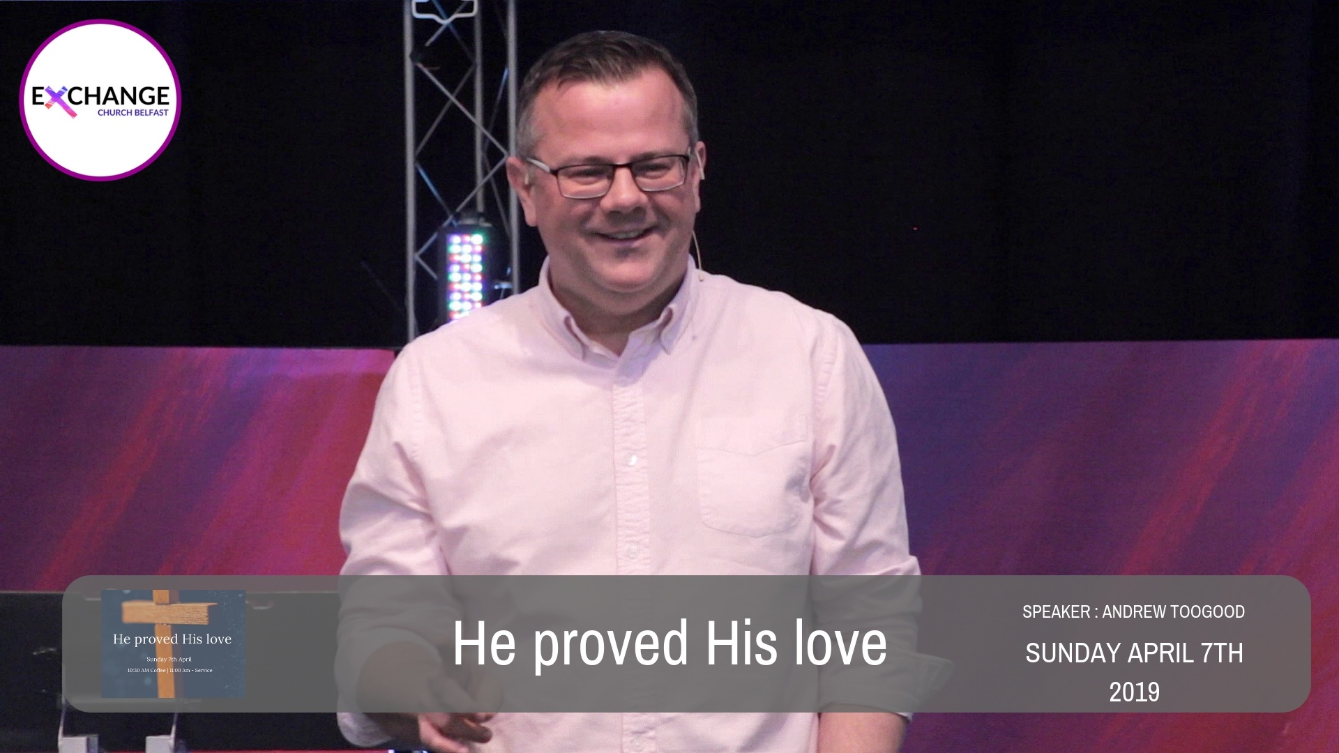 He proved His love