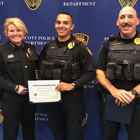 Two Prescott Police Officers Receive Lifesaving Awards