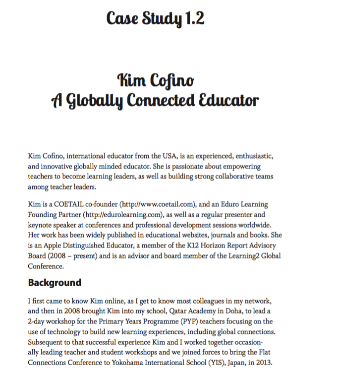 The Global Educator Case Study 1.2 - Kim Cofino
