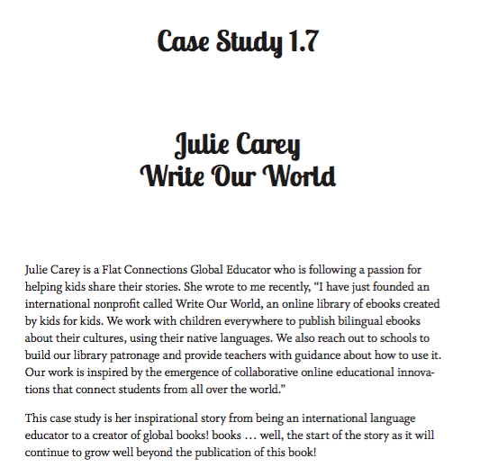 The Global Educator Case Study 1.7 - Julie Carey