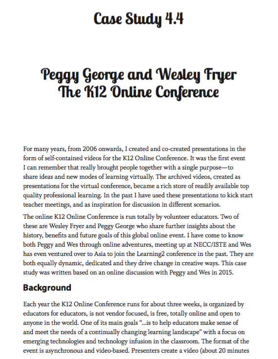 The Global Educator Case Study 4.4 - The K-12 Online Conference