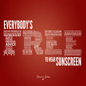 Episode 69 - Everybody's Free To Wear Sunscreen