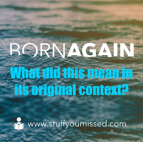#21: Born Again, What did this mean in its original context?