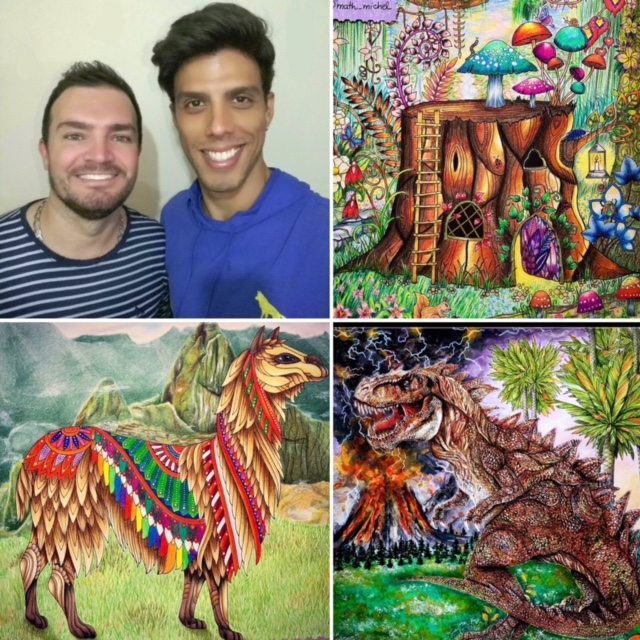 "#31. A shared passion for coloring books, experiments and divas (or ""who is who""), with Michel and Matheus (@math_michel)"