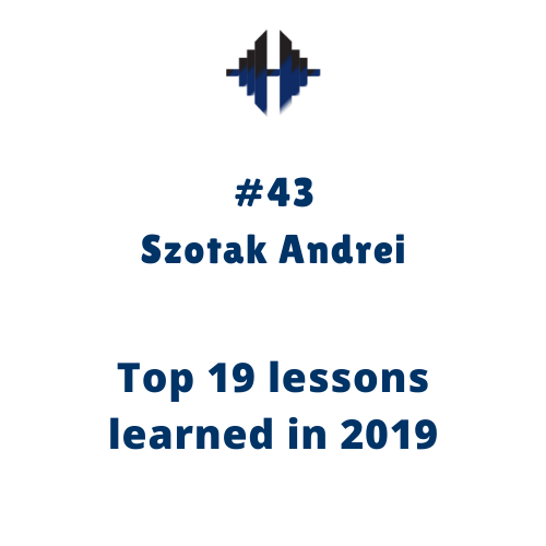 Top 19 lessons learned in 2019