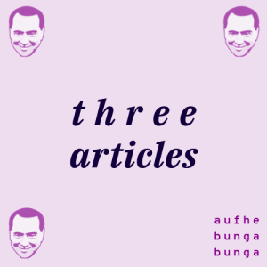 Excerpt: /92/ Three Articles