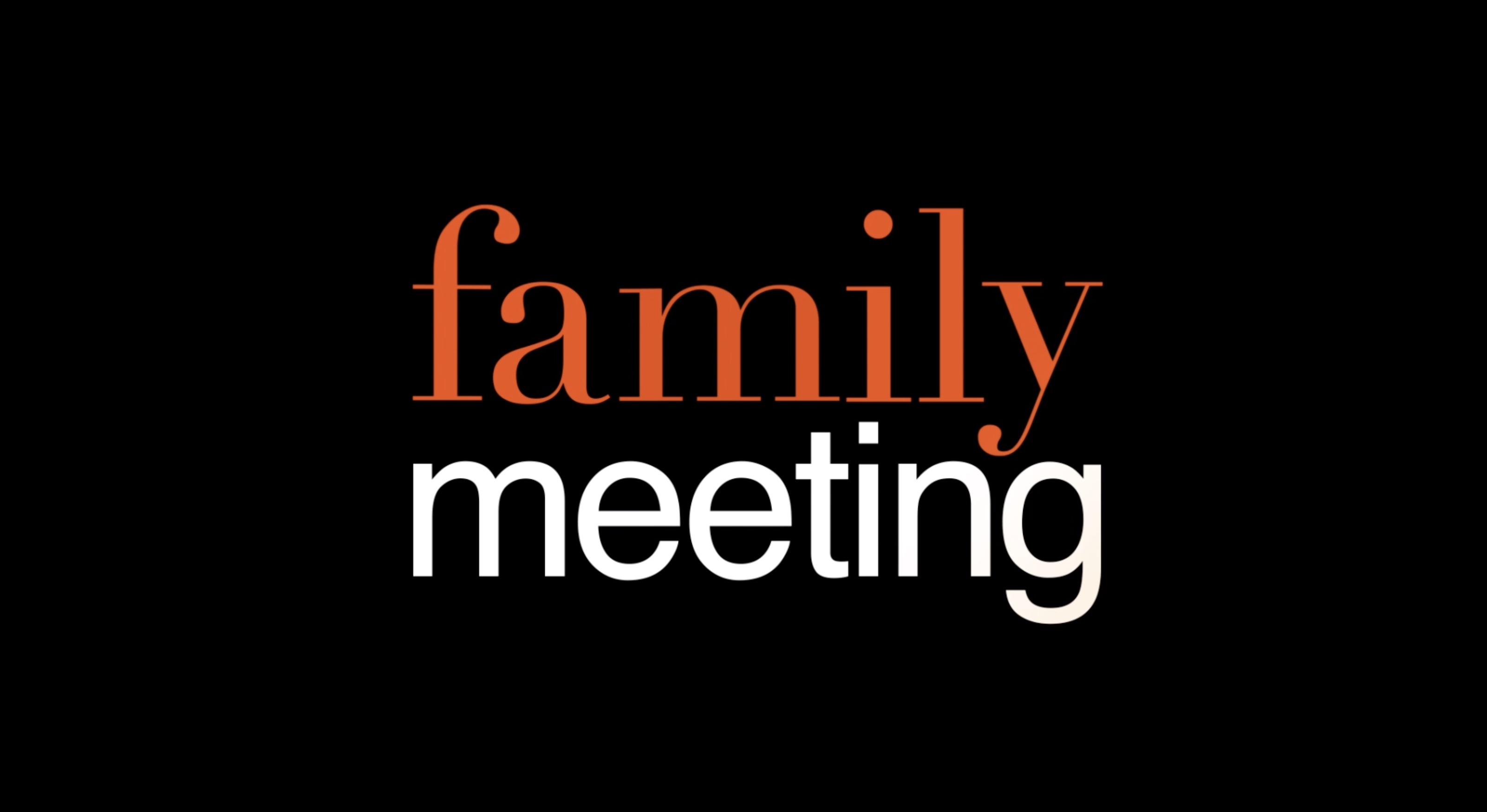 Family Meeting: Letters from Jesus Pt. 2