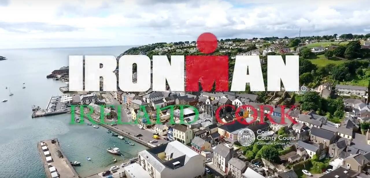 John Innes updates Mick Sheehan on all the logistics of this weekends Ironman