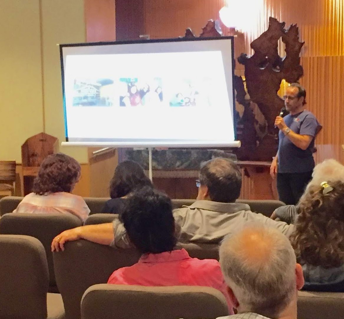 Refugee Support Europe aged 2: Talk at Montclair, New Jersey