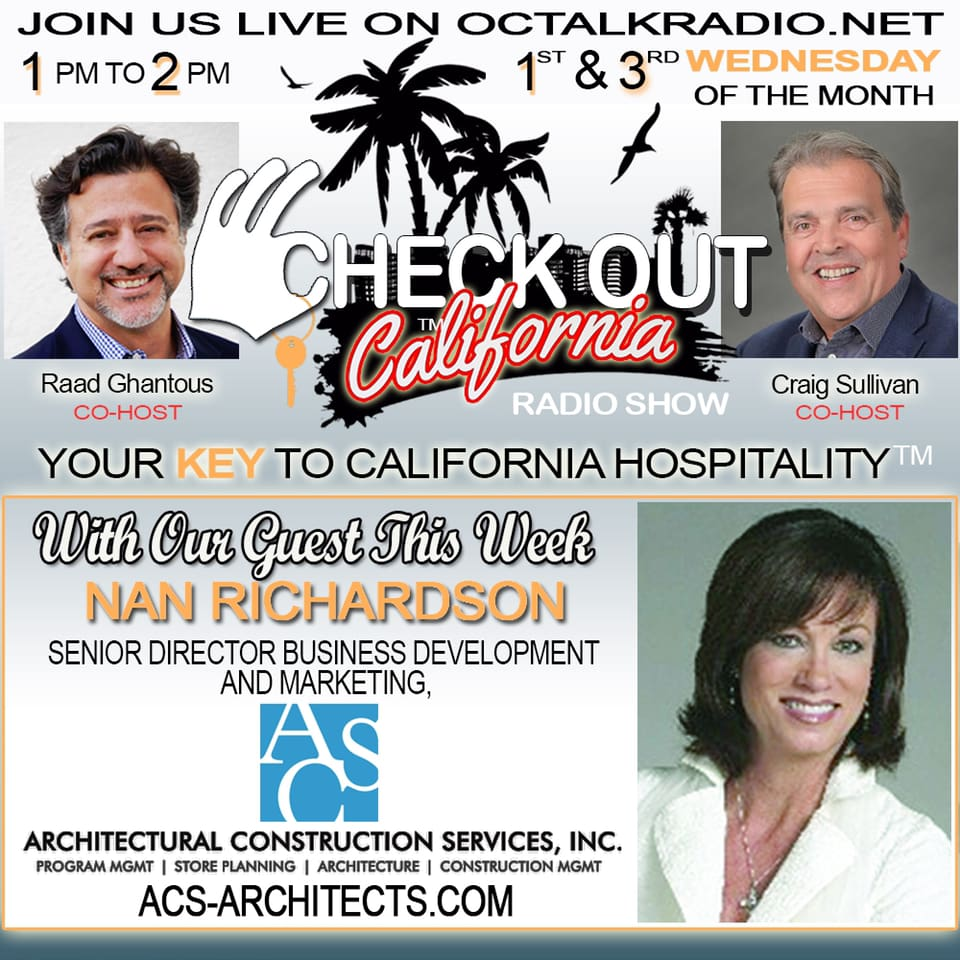 Episode #35-  Nan Richardson, is on the Check Out California Radio Show!