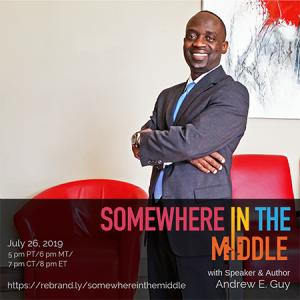 TEDx Speaker, Author, and Coach Andrew E. Guy Shares His Experience in Education on Somewhere in the Middle with Michele Barard