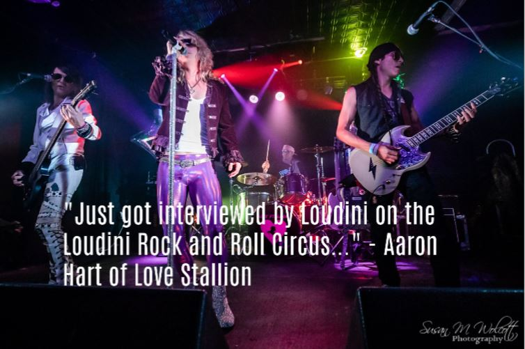 Love Stallion, Aaron Hart invites you to take a ride on his rock 'n roll steed