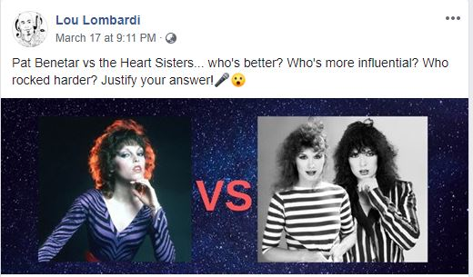 Pat Benetar vs. The Heart Sisters