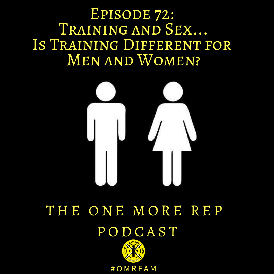 Episode 72: Training and Sex…Is Training Different for Men and Women