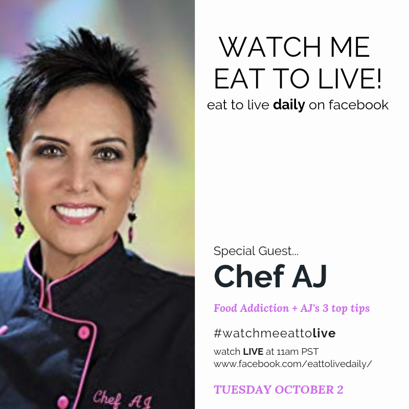 Episode 21: Watch Me Eat to Live - Food Addiction and Eating Disorder with Chef AJ