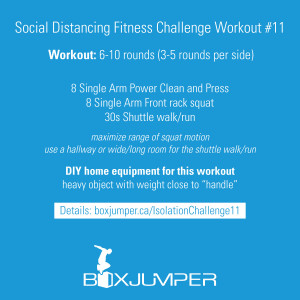 Social Distancing Fitness Challenge Workout #11