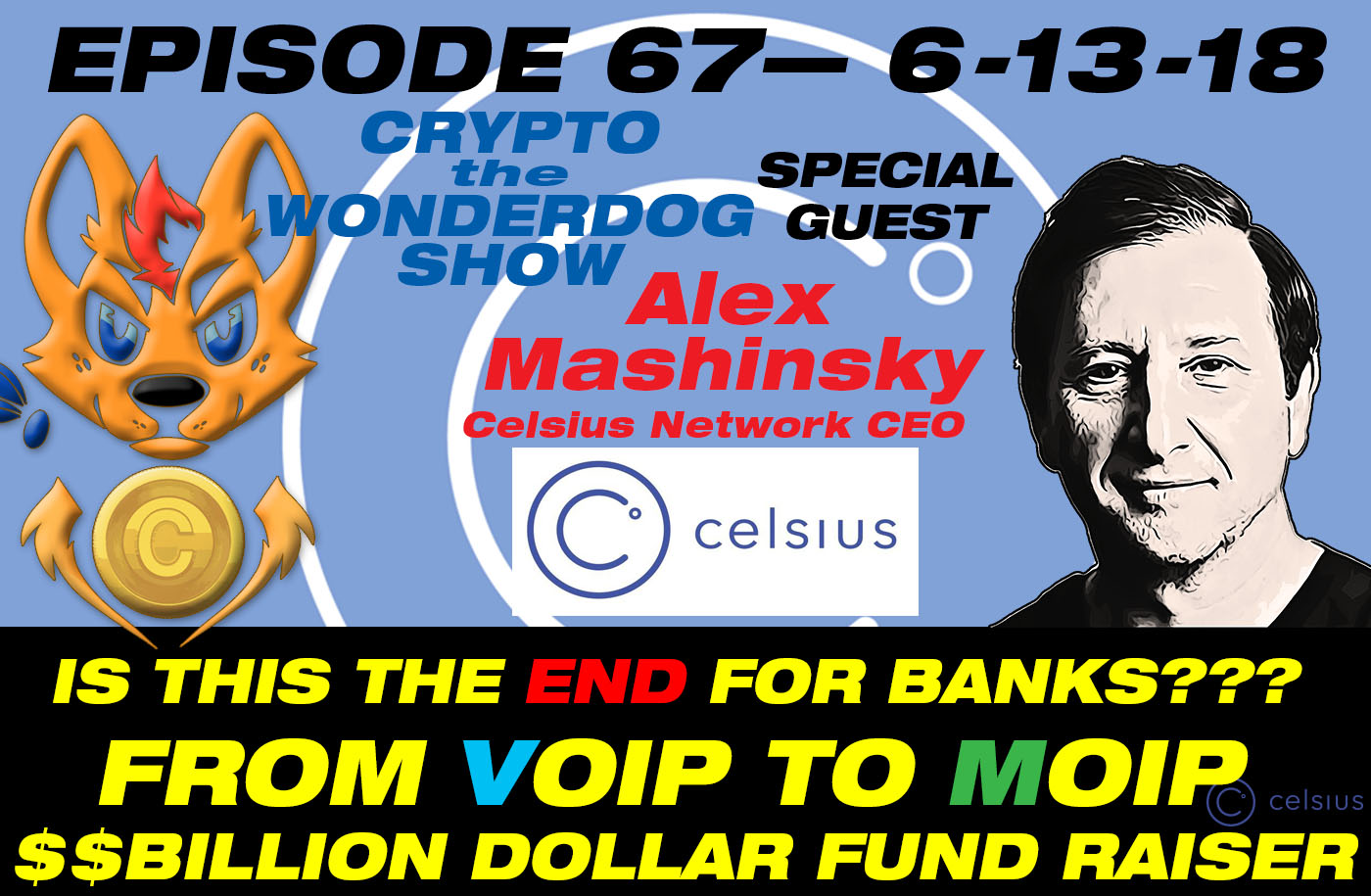 E67 - VOIP Inventor, CRYPTO Investor, 34 patents and +$1B In Raised Funds! - Celsius Network - Alex Mashinsky