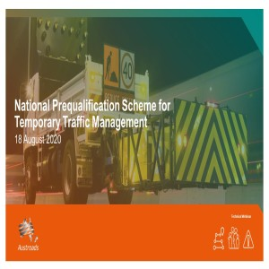 Draft National Prequalification Scheme for Temporary Traffic Management