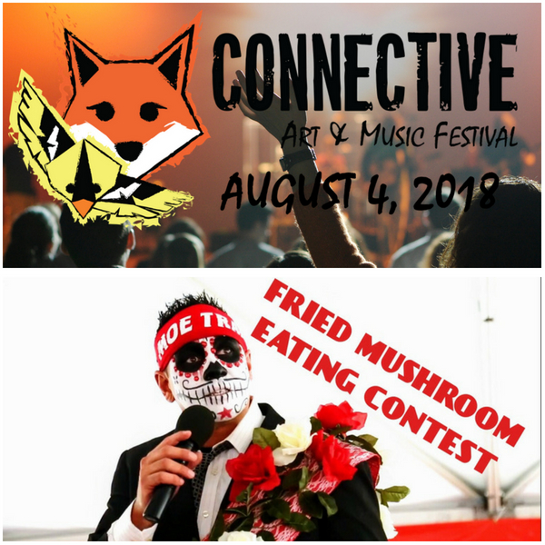 EMCEE MANIA: Connective Art and Music Festival and Kennett Square's National Fried Mushroom Eating Contest Quick Promo
